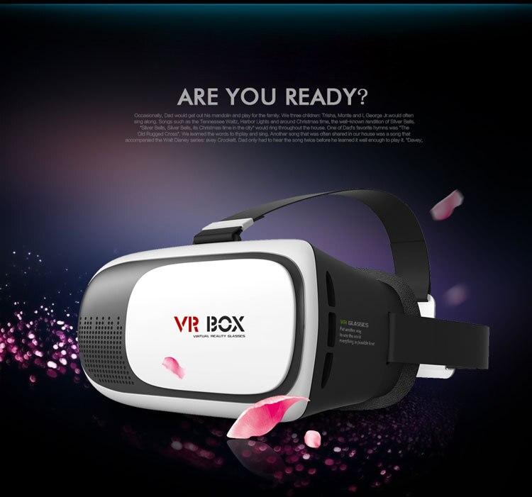 <font><b>2016</b></font> <font><b>Professional</b></font> <font><b>VR</b></font> <font><b>BOX</b></font> <font><b>II</b></font> <font><b>2</b></font> 3D <font><b>Glasses</b></font> VRBOX Upgraded Version Virtual Reality 3D Video <font><b>Glasses</b></font> without Bluetooth Remote