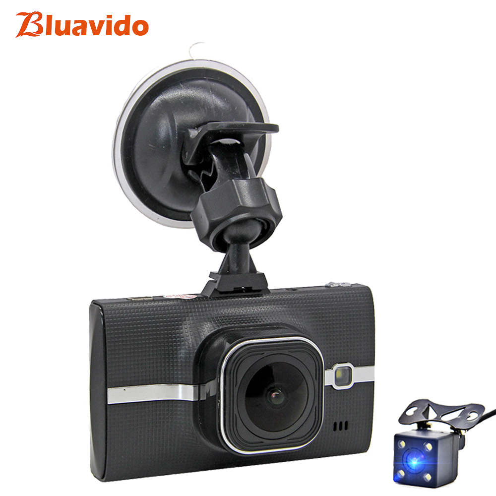 Bluavido Car DVR Camera Full HD 1080P WDR Night vision Video Recorder ADAS Dual Lens dash cam Registrar cycle recording G-sensor