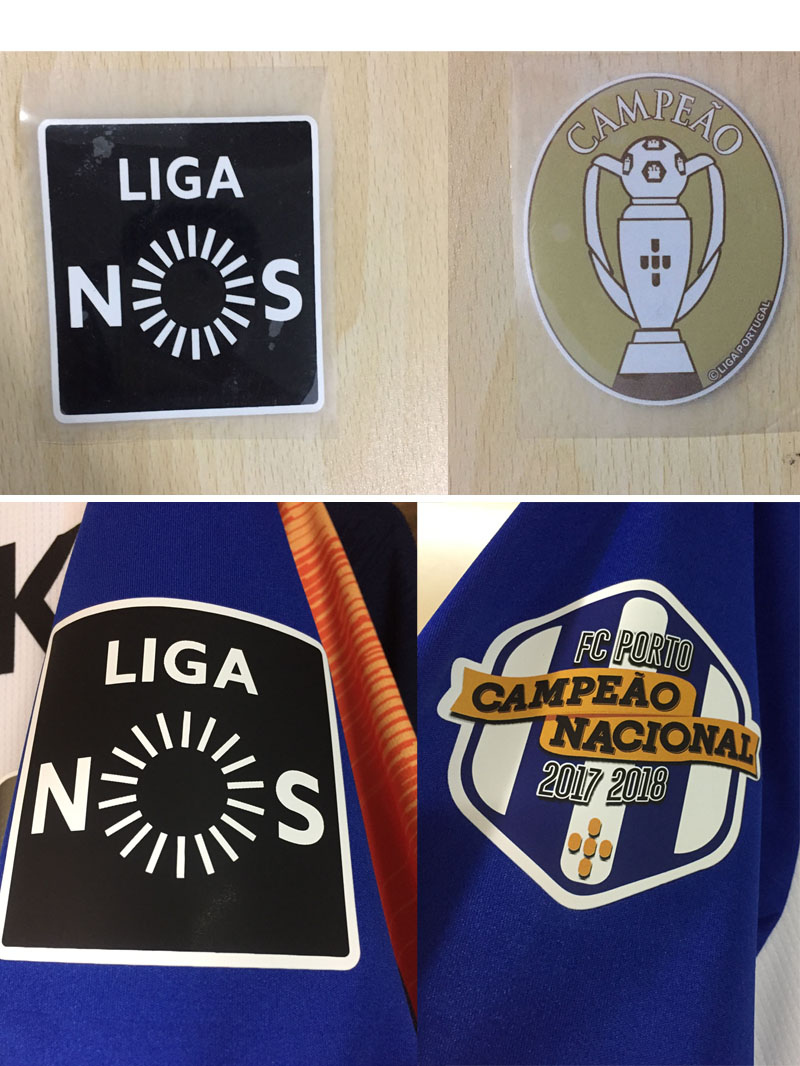 Porto And Benfica Champions Patch Campeao And Liga Nos Badge Heat Transfer Soccer Patch