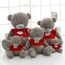 40 80cm 2017 new Style Big Gray Bear plush Toys high quality bear cloth doll stuffed