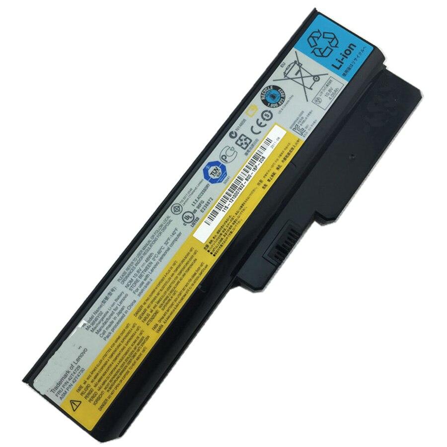 11.1 V 48wh D'origine batterie d'ordinateur portable L08S6Y02 pour Lenovo G430 G450 G455 G550 G530 V460 B460 B550 V460 Z360A N500 G555 L08L6Y02