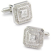 SPARTA Rhodium plated transparent AAA zircon cufflinks men's Cuff Links + Free Shipping !!! metal buttons