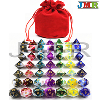 High Quality Portable Dice for Dungeons and Dragons Mixed Color Effect with Large Pouch Cube Game,Dungeons and Dragons Rpg Game