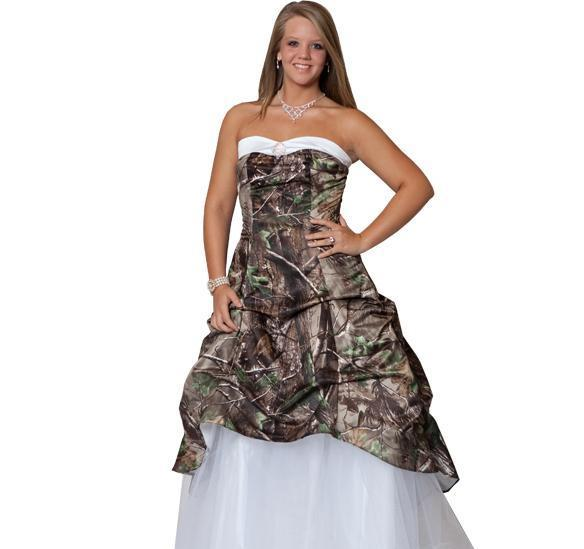 Sweetheart Neck Camo Wedding Gowns Hot Sale Royal Train Tiered ...