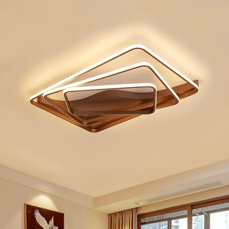 Minimalismo quadrado led luzes de teto para sala estar quarto roon moderna casa luminárias deco lâmpada do teto com controle remoto|Luzes de teto| |  - title=