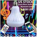 Светодиодная RGB цветная лампа E27 12 Вт Bluetooth управление умная музыкальная звуковая акустическая лампа