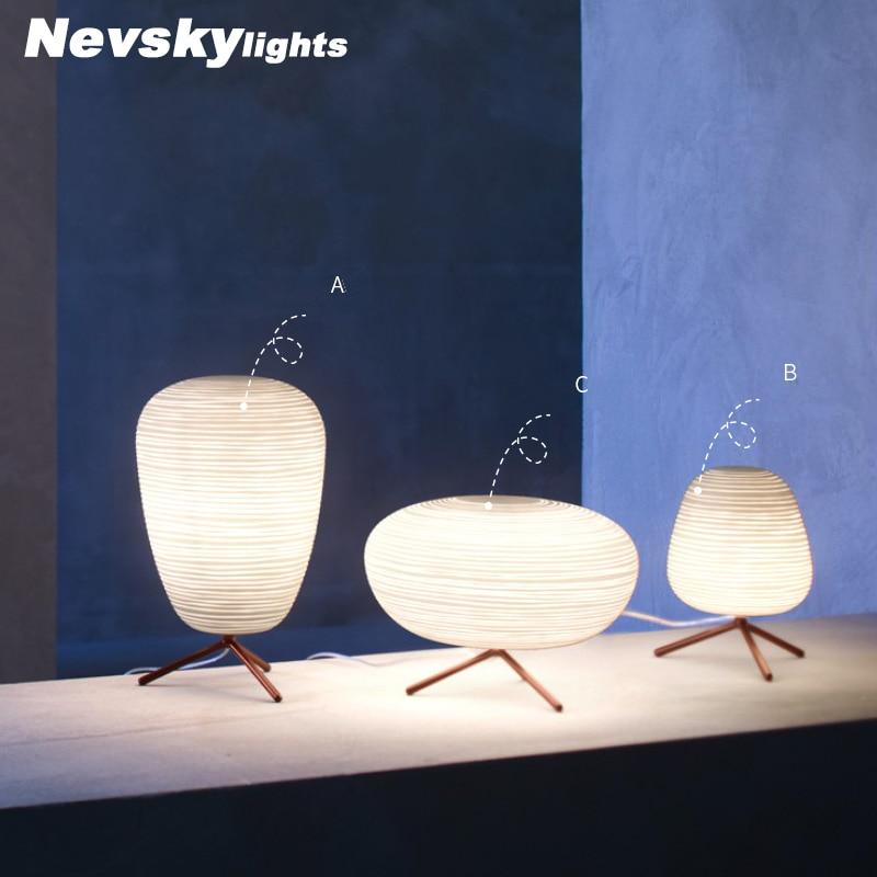 купить Night light bedside table lamps for bedroom LED eye protect students dorm reading desk lamp Rotating Grass Iron table light недорого