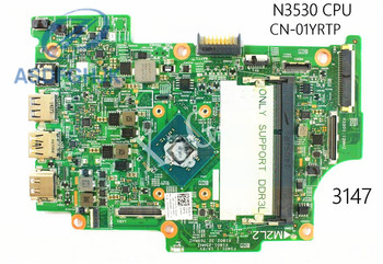 Laptop Motherboard 1YRTP 01YRTP CN-01YRTP FOR Dell FOR Inspiron 3147 Motherboard N3530 CPU DDR3L 100% Test OK