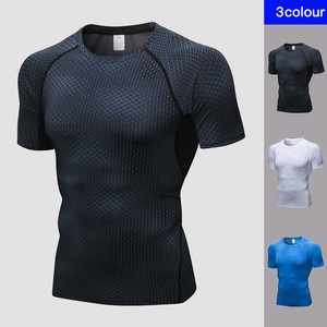 Image 5 - hot logo Custom Rashgard gym tshirt Running shirt Basketball Football Jerssey Quick Dry sport shirt men Jogging fitness shirt