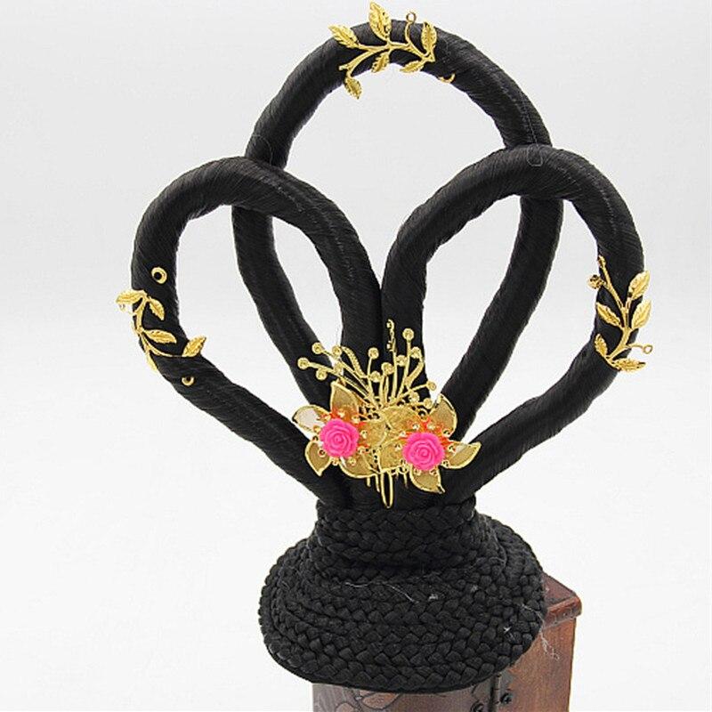 Em forma chinesa antiga dinastia de fadas da princesa acessórios para o cabelo do vintage acessórios para o cabelo de fadas cosplay