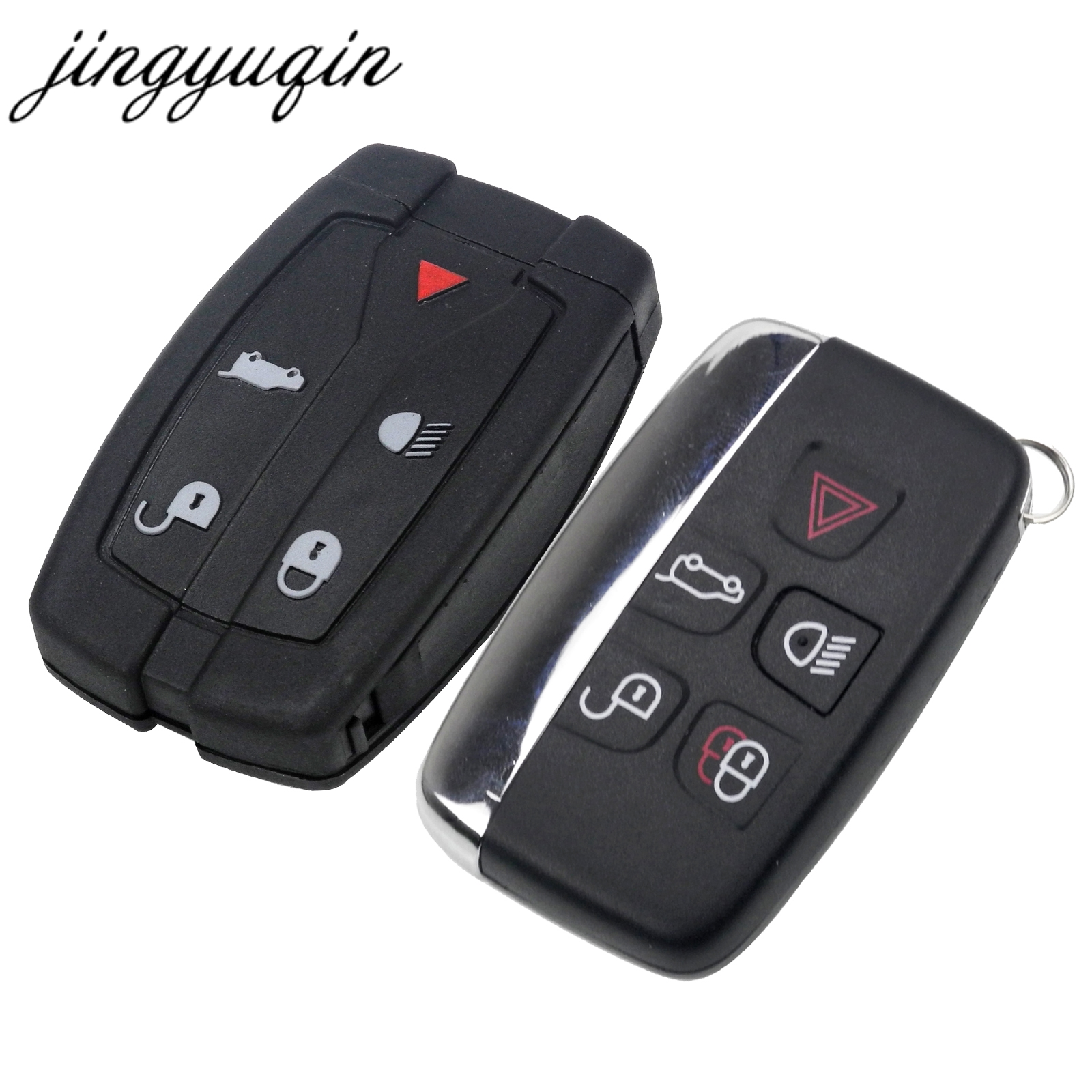 jingyuqin 10pcs 5 Button Remote Key Shell Fob Case Fit For Land Rover Freelander 2 3