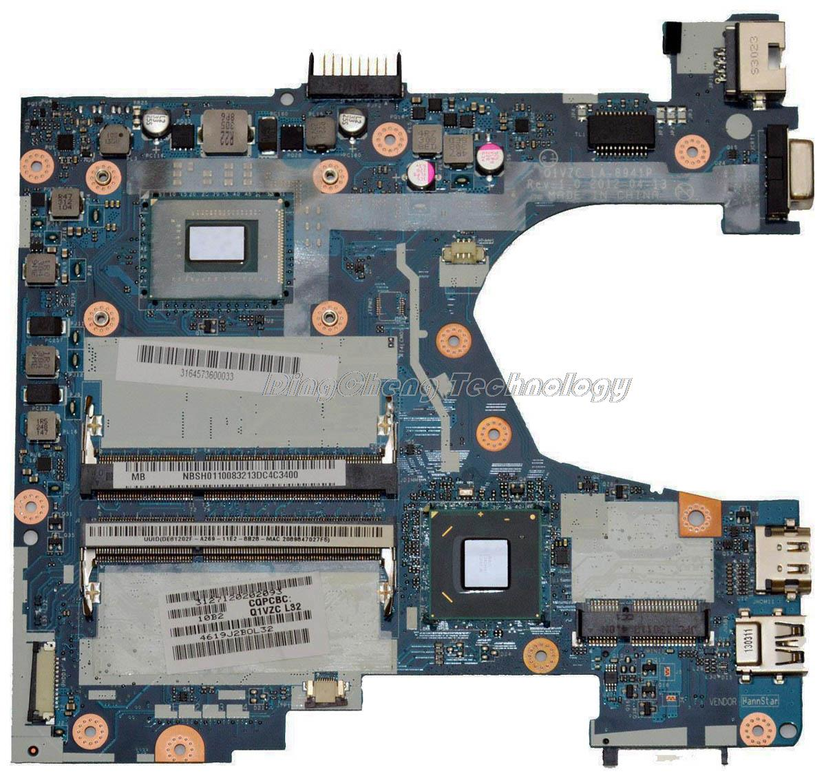 SHELI laptop Motherboard For Acer 756 Q1VZC LA-8941P NBSH011003 NB.SH011.003 I3-2350M integrated graphics card fully tested
