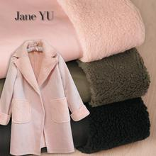 JaneYU Winter Thickened Lambskin Composite Fabric 1pieces=50x145cm Lamb Fur Coat Coat Warm Clothing Pants Non-staple Fabric