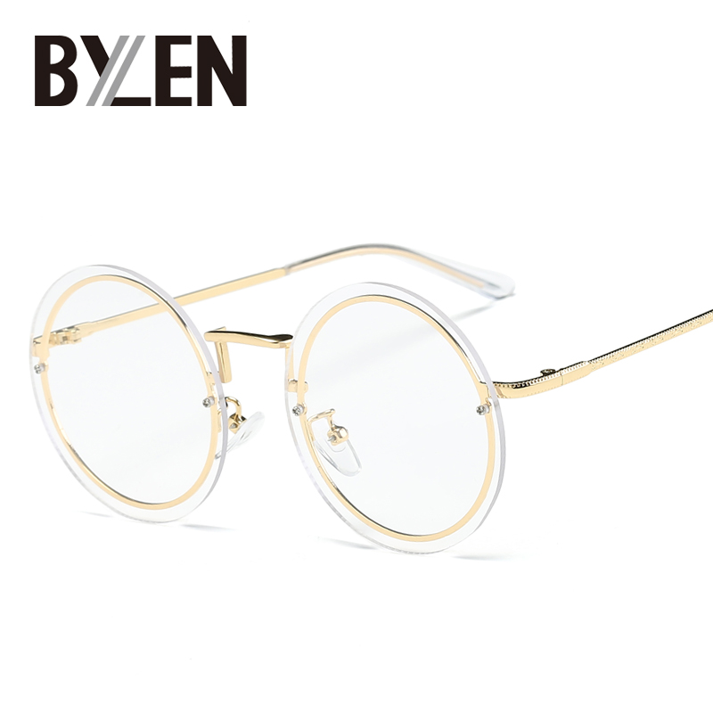 vintage rimless eyeglasses frames brand