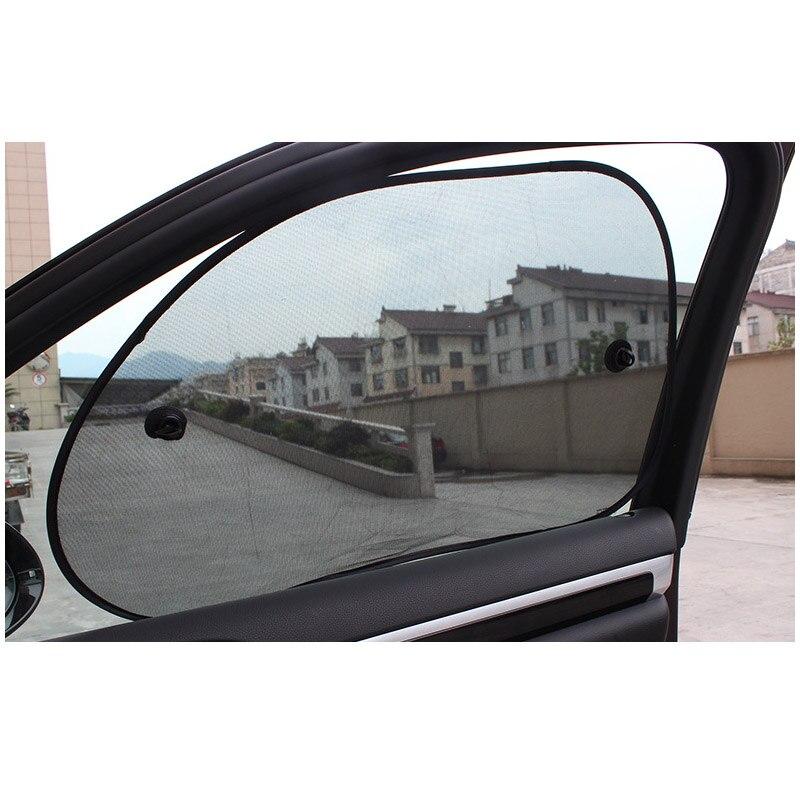 Side Window Sunshades Gauze Nylon Cloth Window Sun Screen The Side Block Of The Black Screen 65*38cm  A Pair 2pcs In