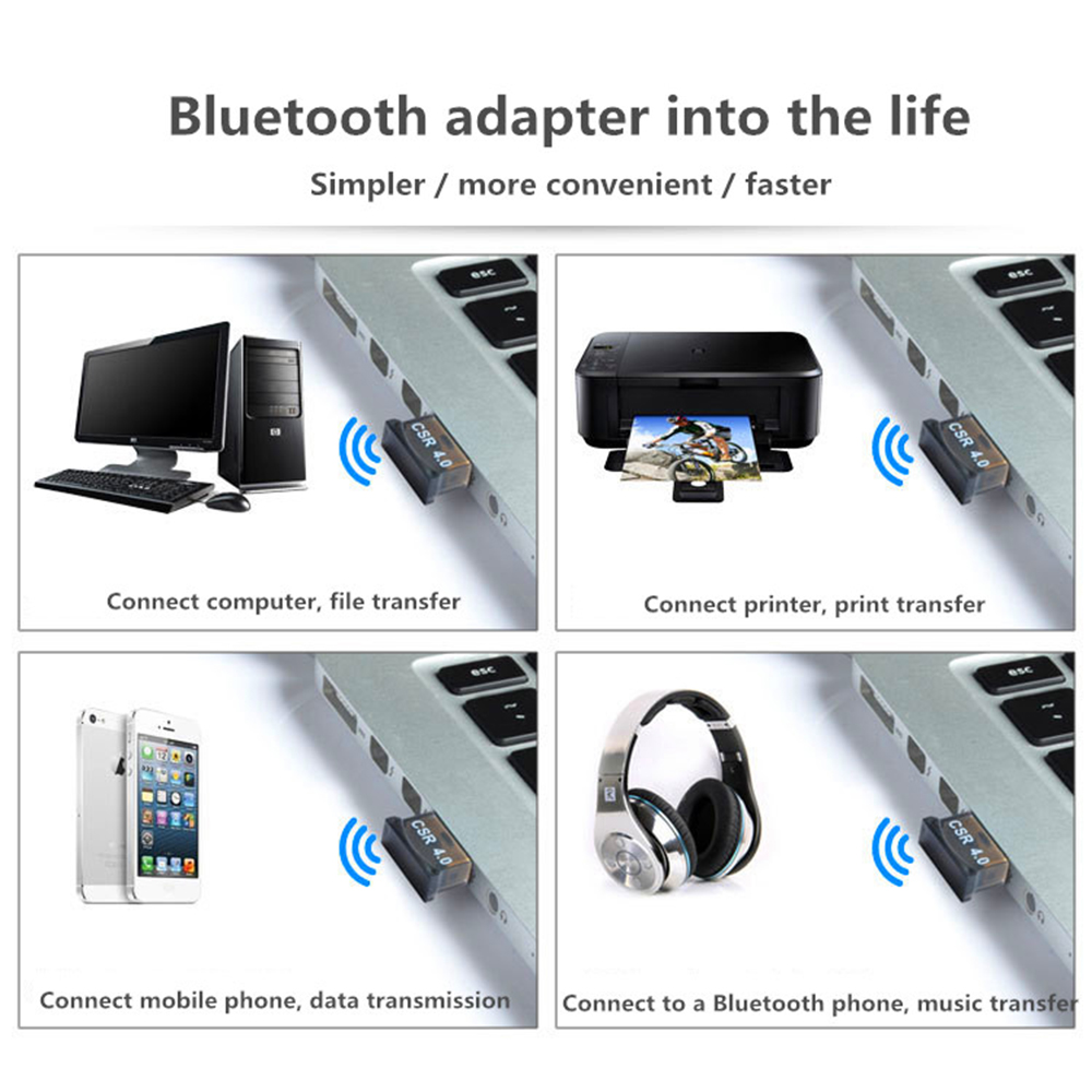 Image 5 - Mini USB Bluetooth Adapter Dongle V4.0 CSR Dual Mode Wireless Audio Receiver For Computer PC Wireless Mouse Bluetooth Speaker-in USB Bluetooth Adapters/Dongles from Computer & Office