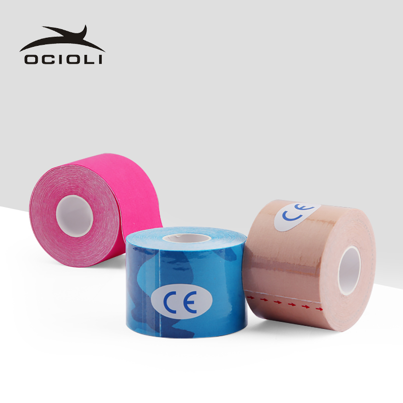 Elastic Kinesiology Tape  5m X 5cm Sports Roll Physio Muscle Strain Injury Support Sport Tape