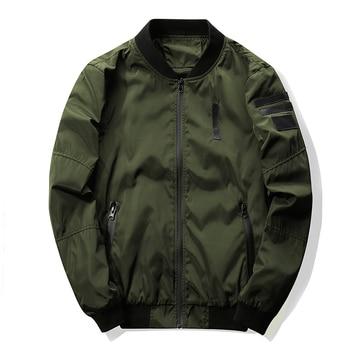 2017 New Men's Bomber Jacket Coat Letter Emboridary Mens Hip Pop Jacket Pilot Bomber Jackets Men Windbreaker Jacket Army Green
