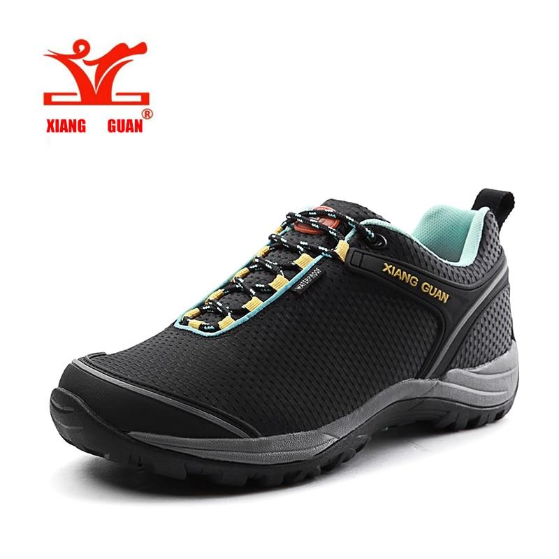 ФОТО Sport Trekking Shoes Men Unisex Lovers Hiking Sneakers Women Waterproof Climbing Outdoor Walking Damping XIANGGUAN scarpe da