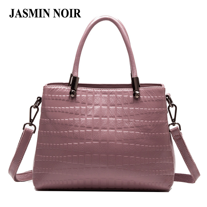 Brand Fashion Women Real Leather Handbag Alligator Pattern Cow Genuine High Quality Ladies Crossbody Bag Large Shoulder Tote Bag 2017 fashion women bag genuine leather alligator pattern women shoulder bag soft leather brand bag women handbag femaletote bag