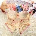 Сексуальный леди женщины пуш-ап бюстгальтер лаконичный комплект женщины пуш-ап бюстгальтер A чаша комплект нижнего белья женщины сексуальный пуш-ап бюстгальтер лаконичный комплект для девочки