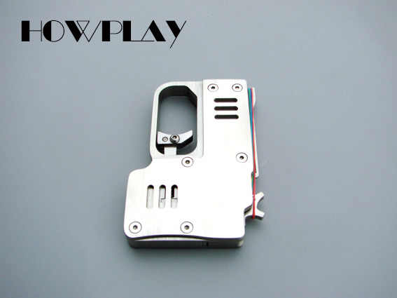 HowPlay металлическая игрушечная винтовка минирезинка для волос пистолет для мальчиков игрушечный пистолет 6 серийных пуль наружная стрелялка, игрушка пистолет подарок на день Святого Валентина