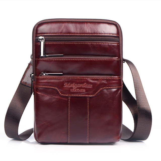 4edfbba4083b MEIGARDASS Genuine Leather Mens Messenger Bags Fashion Small Shoulder Bags  for Men Cross Body Chest Bag