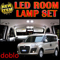 cheetah 6 X Error Free Car LED Vehicle Interior Map Dome Door Lights decoration Kit Package for fiat doblo accessories 2009-2015