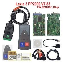 Lexia3 PP2000 OBDII 2 полный чип золотой край для Citroen для peugeot Lexia 3 диагностический инструмент для P-eugeot с новым Diagbo