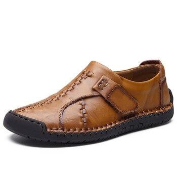 Fmzxg 17 м 101-115 Новая Осенняя мужская кожаная обувь Мужская Мода дышащие повседневные туфли на плоской подошве Мужская обувь удобные круглые
