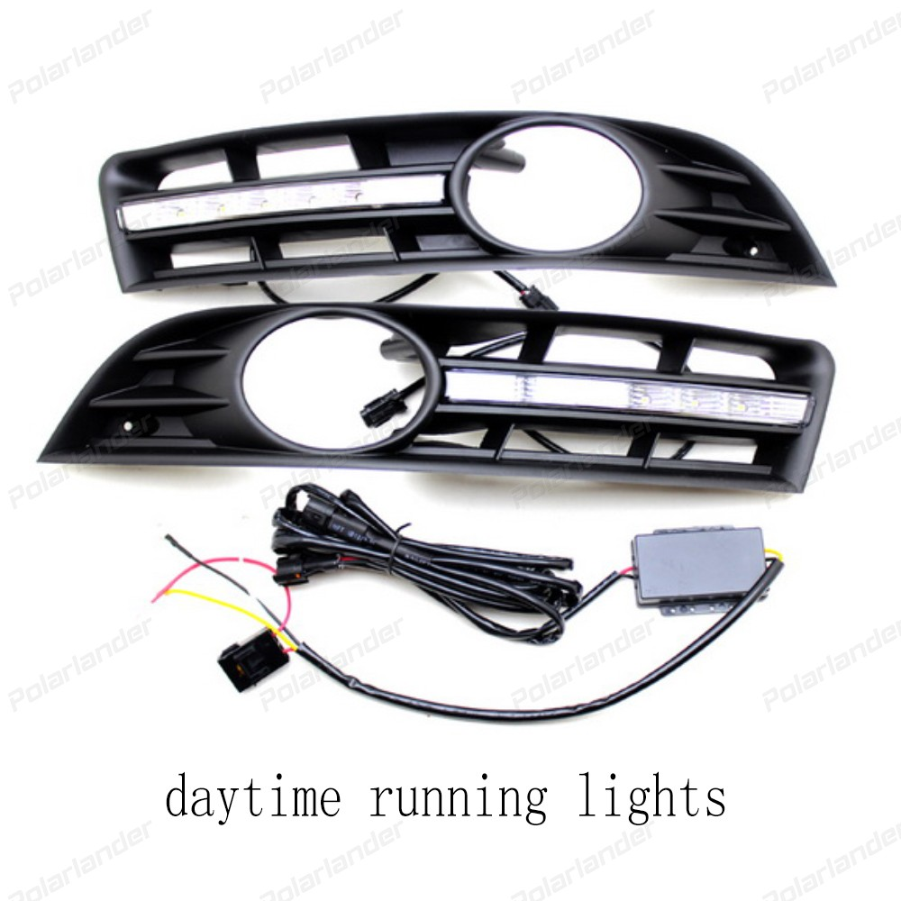 1 paiir AUTO parts Turn Signal 12V car LED DRL Daytime Running Lights for V/olkswagen M/AGOTAN 2007 - 2011 for 2007 2008 2009 2010 2011 audi q7 22 led direct fit led daytime running lights w turn signal auto parts