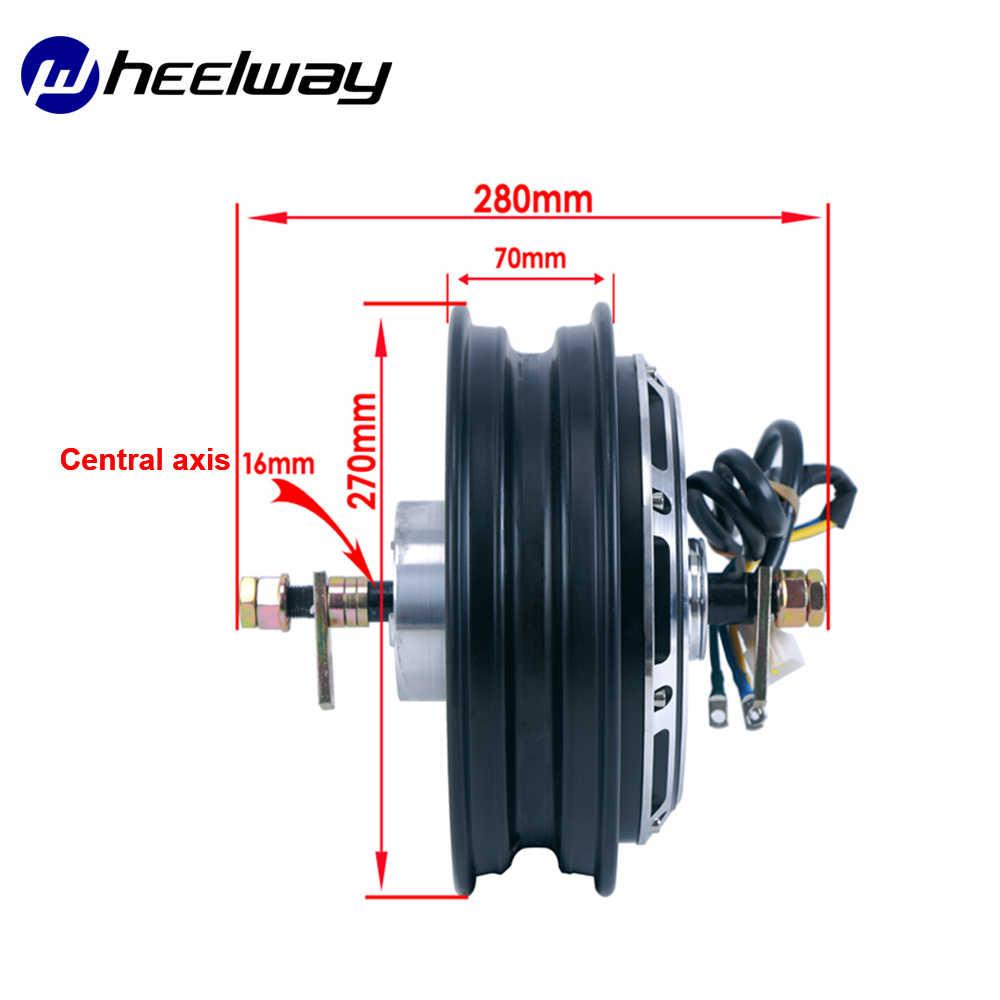 Wheelway 10 Zoll Elektrische Motorrad Hub Motor 800W 1000W 1200W 1500W 2000W 60V/72V Trommel Bremse Bürstenlosen Getriebelose Hub Motor
