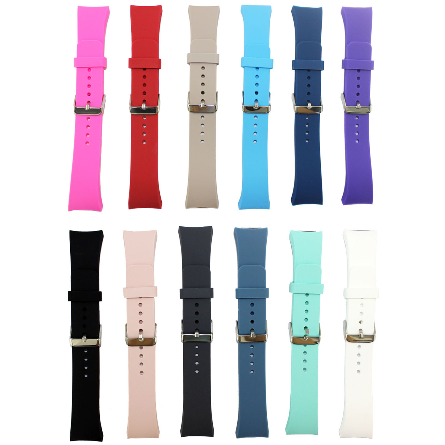 Sports Silicone Wrist Strap for Samsung Galaxy Gear S2 Band SM R720 Replacement Watchband Bracelet