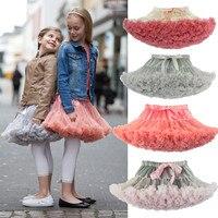 2017 Nuevo estilo del verano encantador del vestido de bola falda tutú de la falda pettiskirt 20 colores faldas de las muchachas de 2-7 años de edad los niños falda