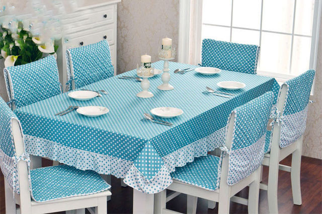a74d79a86d8 High quality kitchen dining table cloth and chair cover set 100% cotton  lace tablecloth and