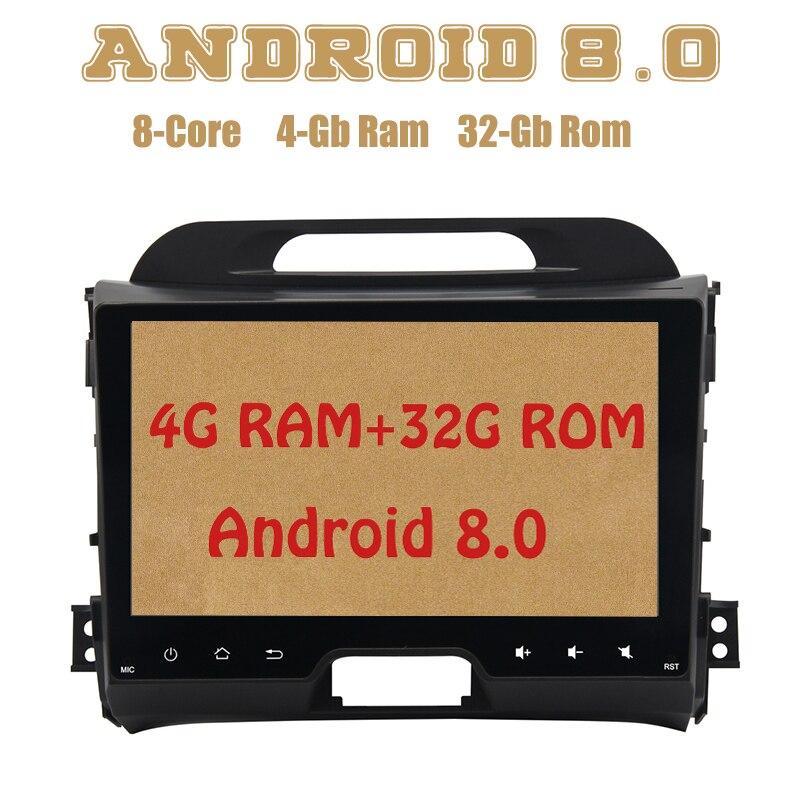 Autoradio Dasaita PX5 Android 8.0 gps pour kia sportage 2010-2016 avec Octa core 4G RAM 32G ROM wifi 4g usb stéréo automatique Multimed