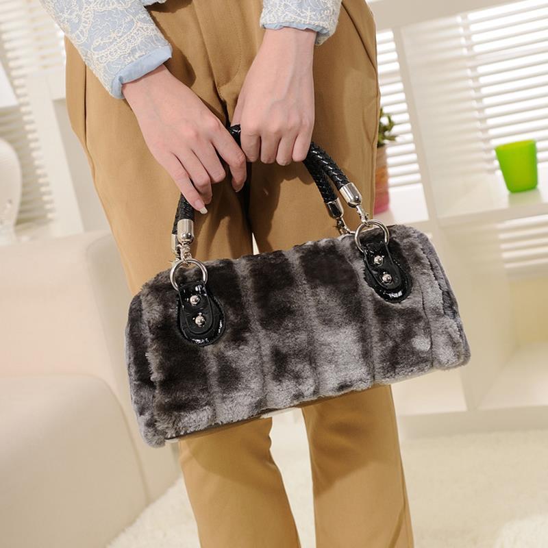 2015 Winter Women Handbags Faux Fur Bags Designer Handbags High Quality sac a ma