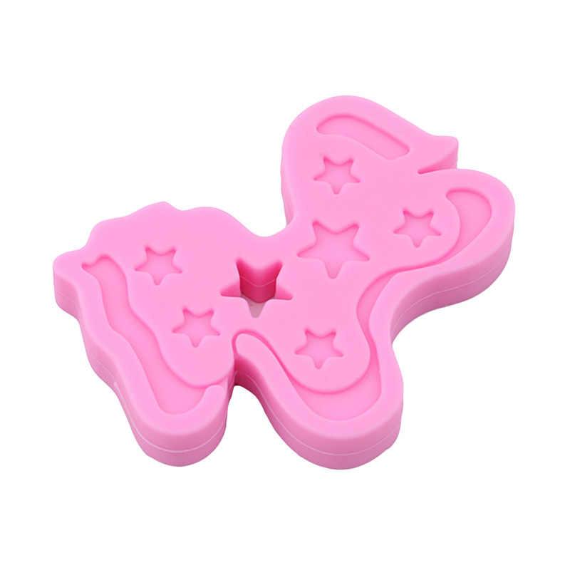 1 قطعة الحصان على شكل سيليكون عضاضة BPA شحن الرضع التسنين مضغ الخرز الغذاء الصف الطفل اكسسوارات Siliconen