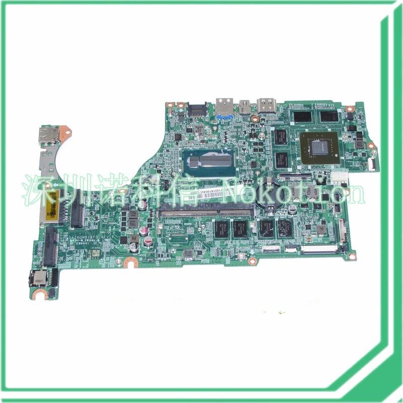 NOKOTION DAZRQMB18F0 REV F NBMCC11001 NB.MCC11.001 For acer aspire V5 573 V5 573G Motherboard GeForce GT750M+i5 4200U