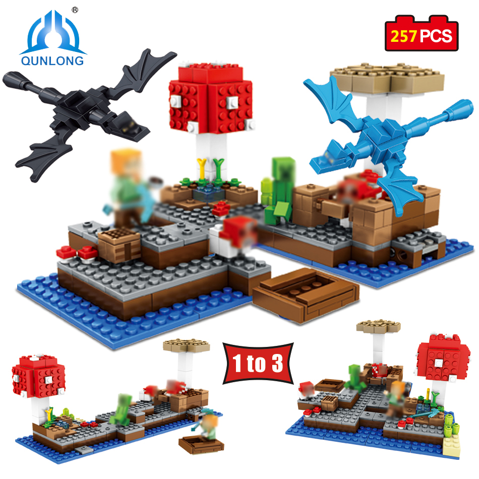 Qunlong Minecrafted Building Blocks Action Toy Figures Educational Toys Birthday Gift For Child Compatible Legoe Minecraft City 12pcs set children kids toys gift mini figures toys little pet animal cat dog lps action figures