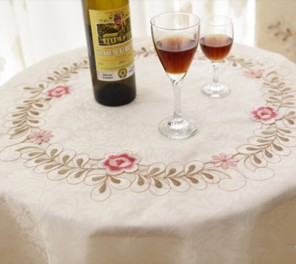 Online Shop Su0026V Top Selling Pastorale European Round Tablecloth Modern Round  Tea Table Cloth Fashionable Embroidered Jacquard Table Cover | Aliexpress  ...