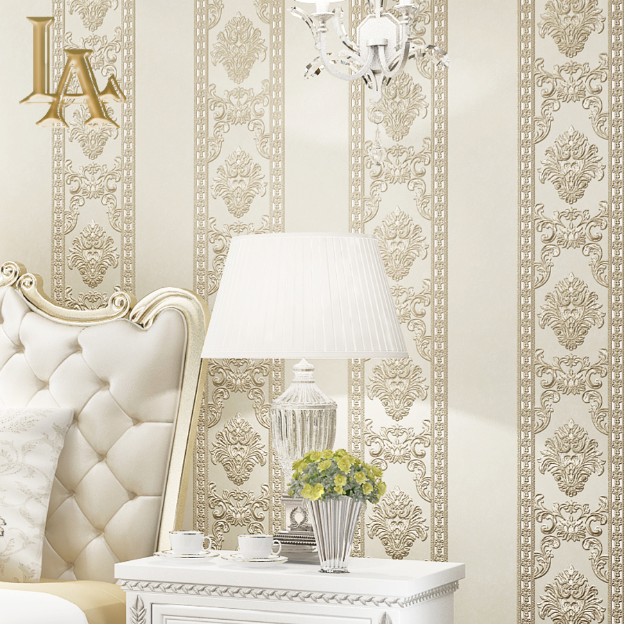 Simple Luxury 3D Embossed European Style Damask Wallpaper For Walls Bedroom Living room TV Background Home Wall paper Rolls shinehome black white cartoon car frames photo wallpaper 3d for kids room roll livingroom background murals rolls wall paper