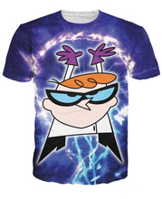 Women Men Cartoon 3d tops humorous T-Shirt the redheaded little genius Dexter Dexter's Laboratory t shirt Totally 90s tees R2361