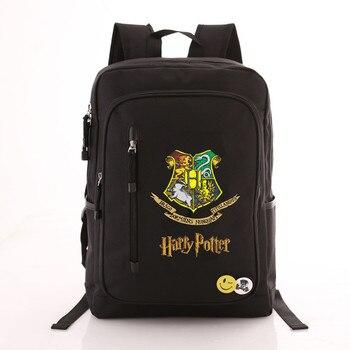 Рюкзак гарри Поттер эмблемы черный
