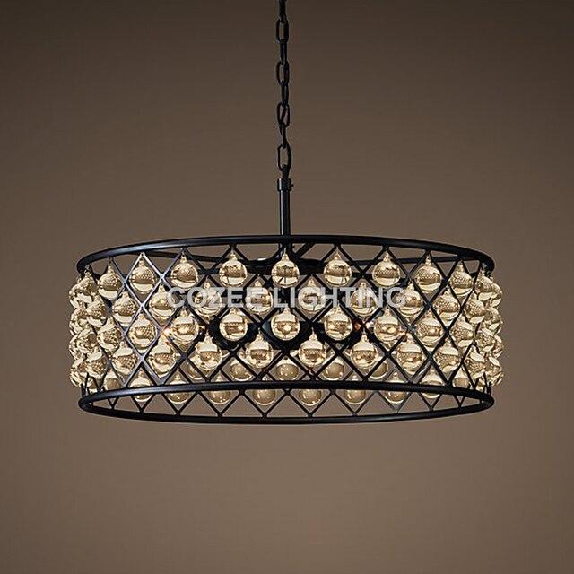 Vintage Glas Drop Kroonluchter Lamp LED Verlichting Kristal ...