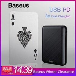 Baseus 10000mAh USB PD 3A Fast Charging Power Bank For iPhone Xs Xs Max USB Charging Powerbank For Samasung Xiaomi Huawei Bank