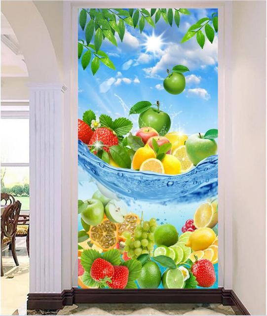 Personalizado Foto Mural 3d Papel Pintado Imagen Fruta De Verano En