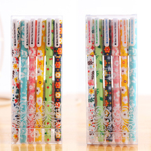 6 Pcs / set Color Gel Pen Starry Pattern Cute Kitty Hero Roller Ball Pens Stationery Office School Supplies Korea kawaii