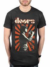 Official The Doors Roi Lezard T-Shirt Groupe Produit Derive Jim Morrison La O-Neck Fashion Casual High Quality Print T Shirt
