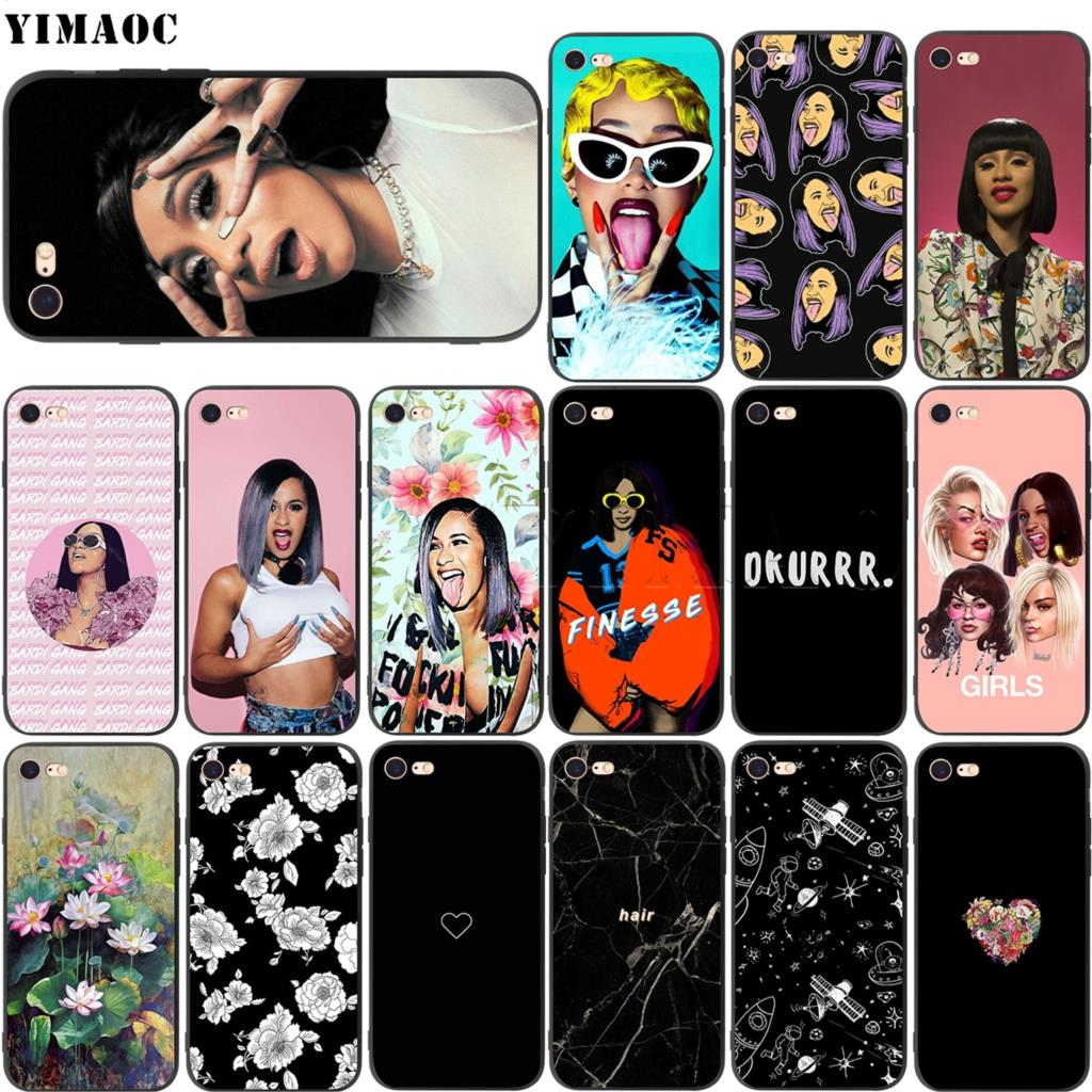 buy online a855c 85197 US $2.47 25% OFF|YIMAOC Cardi B Soft Silicone Case for iPhone XS Max XR X 8  7 6 6S Plus 5 5s se-in Fitted Cases from Cellphones & Telecommunications ...